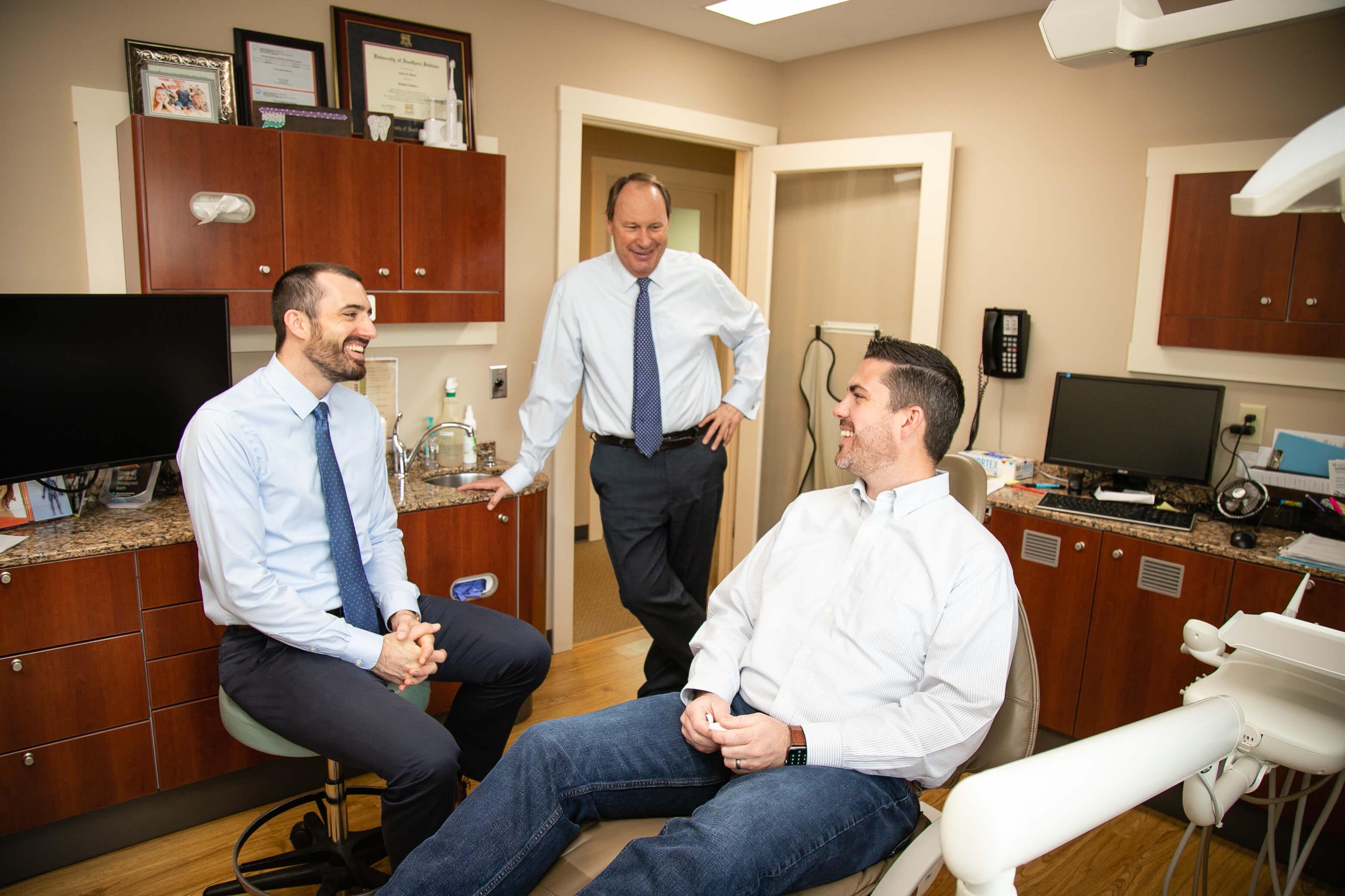 Gentlemen in a dentist exam room