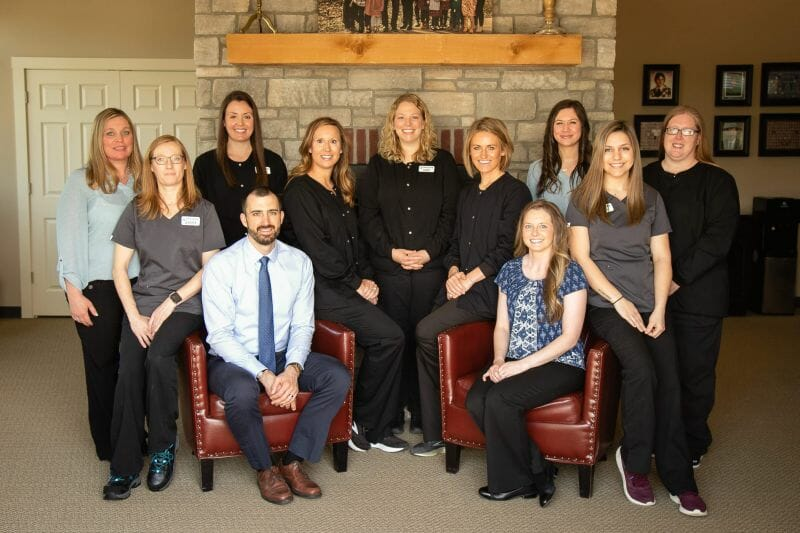 Dr. Green and the Spencer location team members